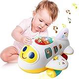 ACTRINIC Baby Spielzeug 12-18 Monate elektronisches Flugzeug Spielzeug mit Licht und Musik Best...