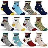 HYCLES Kinder Anti Rutsch Knöchel Socken - 12 Paar ABS Socken für 5-7 Jahre Baby Jungen...