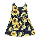 Kobay Mädchen Sommer Süßes Muster Kleinkind Baby Kinder Mädchen Ärmellose Sonnenblumen...