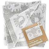 Fillikid Babydecke Elefanten Decke 75x100 cm - Baby Kuscheldecke für Kinderwagen, Babyschale &...